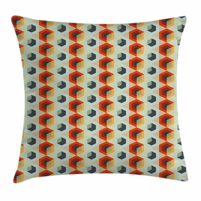 Hexagonal Comb Modern Square Pillow Cover Size: 24 x 24