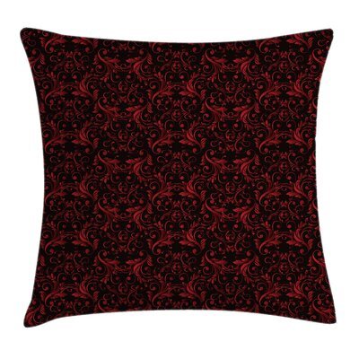 Indian Flowers Swirls Square Pillow Cover Size: 24 x 24