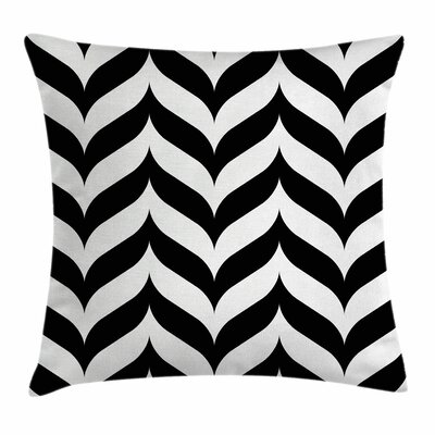 Modern Artistic Chevron Retro Square Pillow Cover Size: 16 x 16