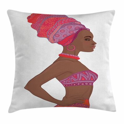 African Woman Sexy Zulu Woman Square Pillow Cover Size: 18 x 18