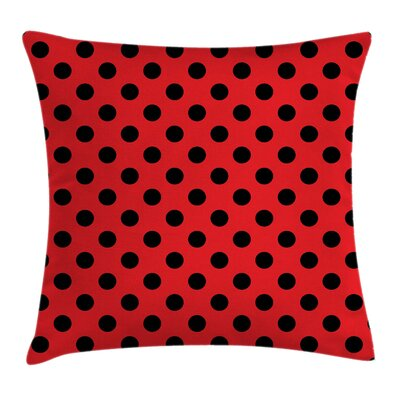 Pop Art Polka Dots Square Pillow Cover Size: 16 x 16