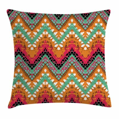 Zigzag Ethnic African Square Pillow Cover Size: 20 x 20