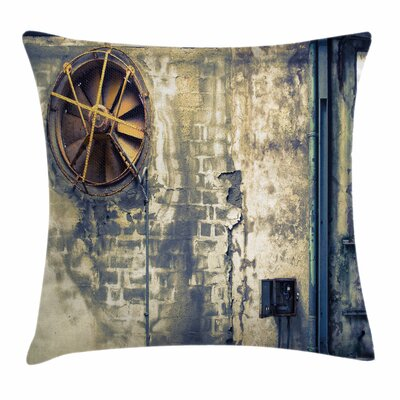 Wrecked Wall Square Pillow Cover Size: 24 x 24