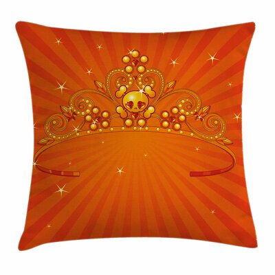 Halloween Fancy Princess Crown Square Pillow Cover Size: 16 x 16