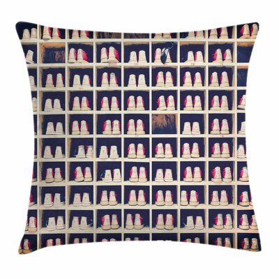 Bowling Party Shoes Pillow Cover Size: 18