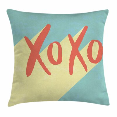 Xo Decor Pop Art Retro Vibrant Square Pillow Cover Size: 24 x 24