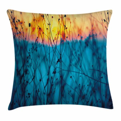 Autumn Dried Flowers Square Pillow Cover Size: 18 x 18