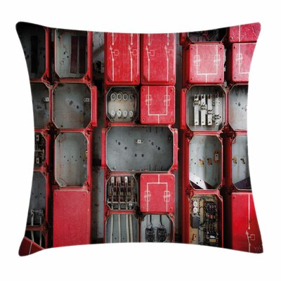 Fuse Cabinet Square Pillow Cover Size: 18 x 18