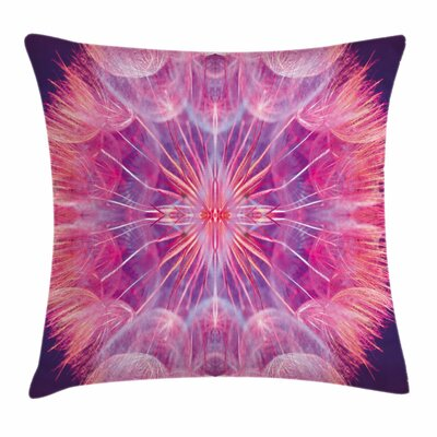 Pastel Close Up Vivid Dandelion Square Pillow Cover Size: 24 x 24