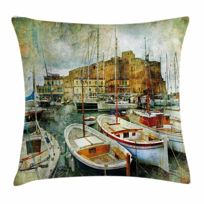 Italian Boats Pillow Cover Size: 24 x 24