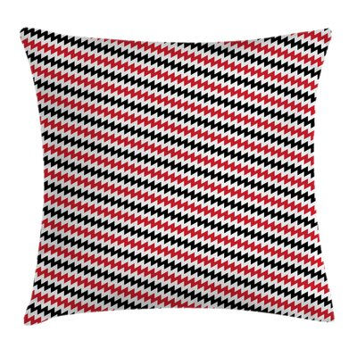 Chevron Lines Square Pillow Cover Size: 24 x 24