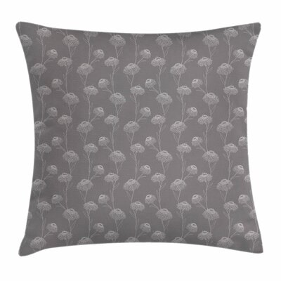Chrysanthemum Flowers Square Pillow Cover Size: 18 x 18