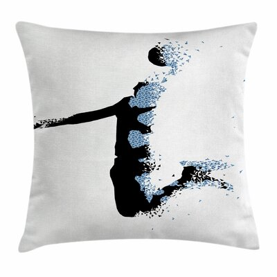 Teen Room Decor Sports Fractal Square Pillow Cover Size: 18 x 18