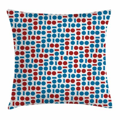 Geometric Modern Forms Square Pillow Cover Size: 20 x 20