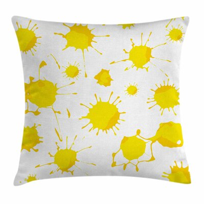 Random Splash Square Pillow Cover Size: 16 x 16
