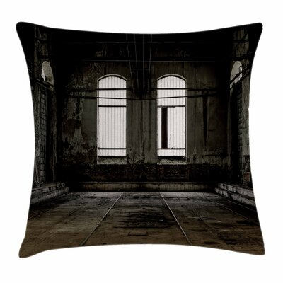 Wrecked Walls Square Pillow Cover Size: 18 x 18