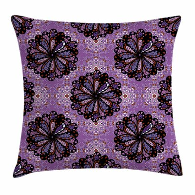 Mandala Vintage Ethnic Square Pillow Cover Size: 16 x 16