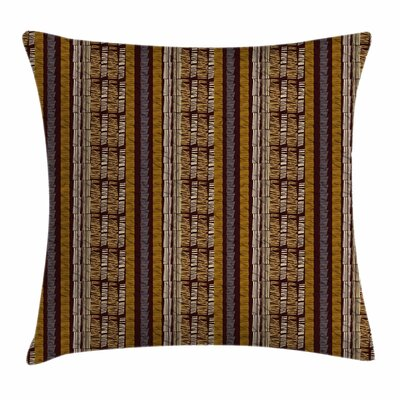 Folk Motif Geometric Square Pillow Cover Size: 16 x 16