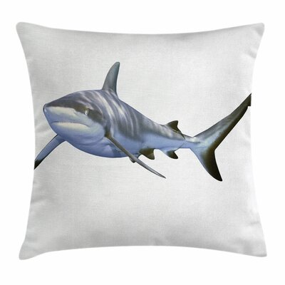 Shark Large Reef Futuristic Art Square Pillow Cover Size: 16 x 16