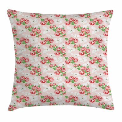 Rose Bouquets Square Pillow Cover Size: 18 x 18