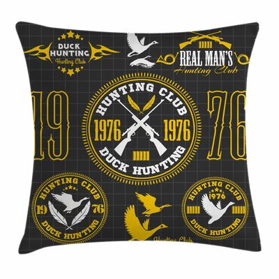Old Club Emblem Square Pillow Cover Size: 24 x 24