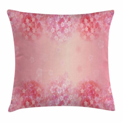 Plum Blossom Botany Square Pillow Cover Size: 18 x 18