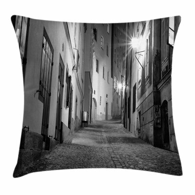 Alleyway Square Pillow Cover Size: 24 x 24