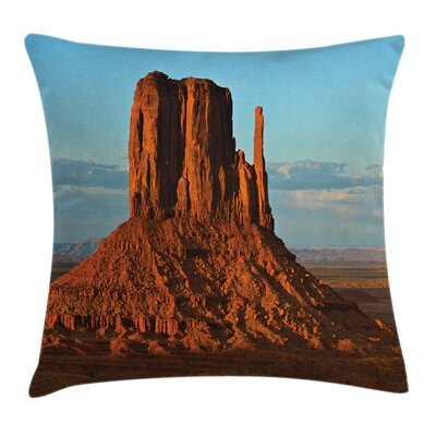 Fabric Monument Valley America Square Pillow Cover Size: 18 x 18