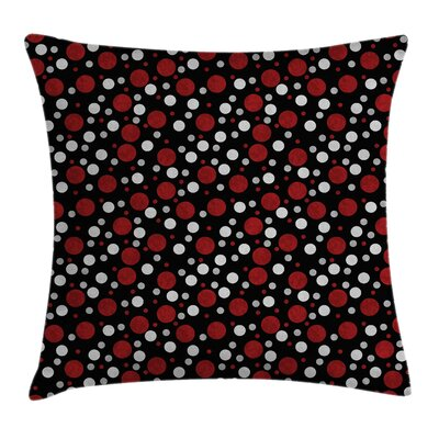 Snow Like Polka Dots Square Pillow Cover Size: 18 x 18