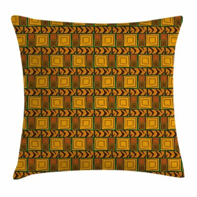 Kenyan Ethnic Effects Square Pillow Cover Size: 24 x 24