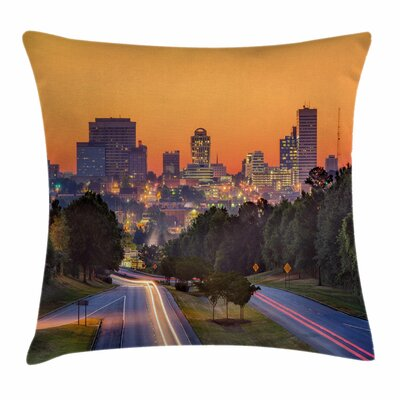 United States Columbia Skyline Square Pillow Cover Size: 16 x 16