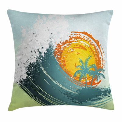 Tropical Coconut Palm Trees Square Pillow Cover Size: 16 x 16