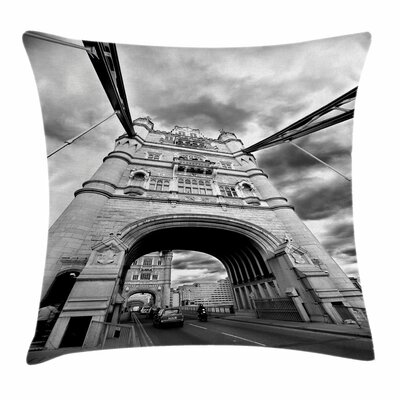 Modern Tower Bridge England Square Pillow Cover Size: 16 x 16