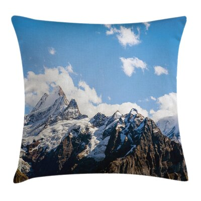 Nature Mountain Natural Beauty Square Pillow Cover Size: 20 x 20