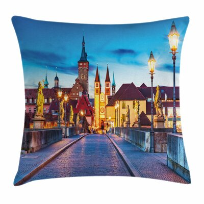 Bavaria Germany Bridge Square Pillow Cover Size: 24 x 24