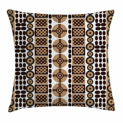 Artistic Kenyan Folk Square Pillow Cover Size: 16 x 16