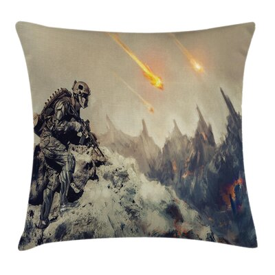 Fabric Armed Soldier Square Pillow Cover Size: 20 x 20
