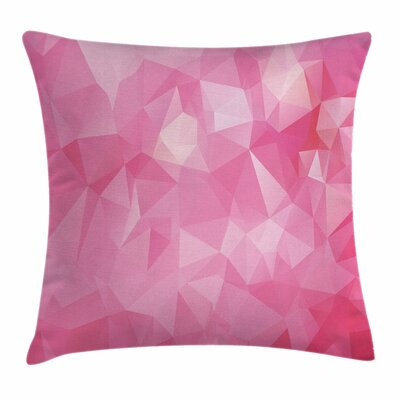 Mosaic Fractal Style Square Pillow Cover Size: 16 x 16