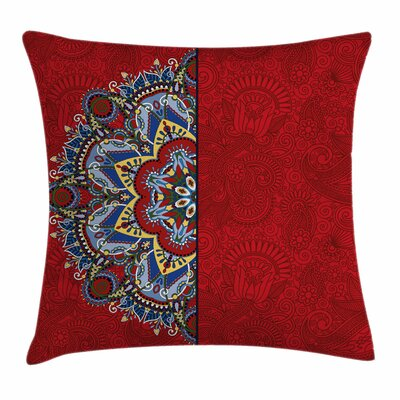 Ukranian Half Style Square Pillow Cover Size: 24 x 24