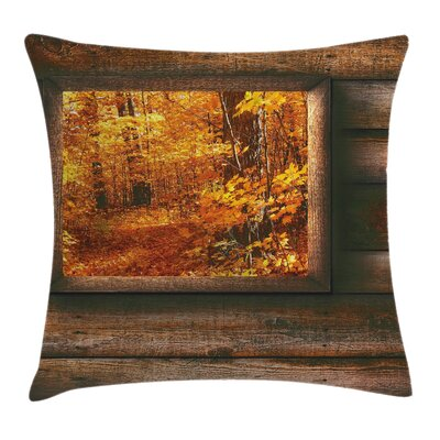Fall Decor View from Cottage Square Pillow Cover Size: 16 x 16