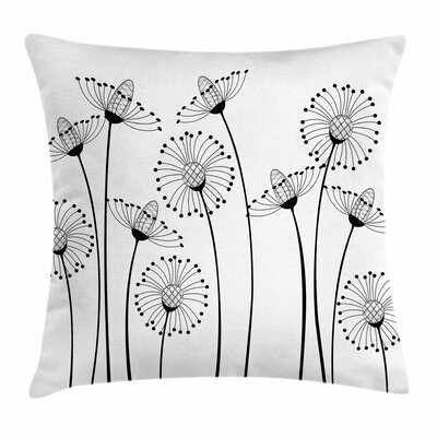 Meadow Flowers Square Pillow Cover Size: 16 x 16
