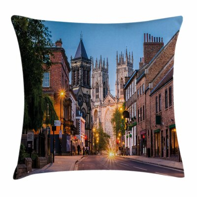 Gothic Decor York Minster View Square Pillow Cover Size: 20 x 20