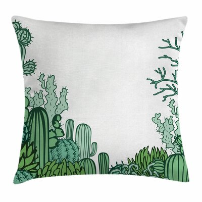 Cactus Arizona Doodle Square Pillow Cover Size: 24 x 24