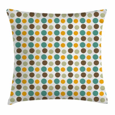 Abstract Dots Square Pillow Cover Size: 18 x 18