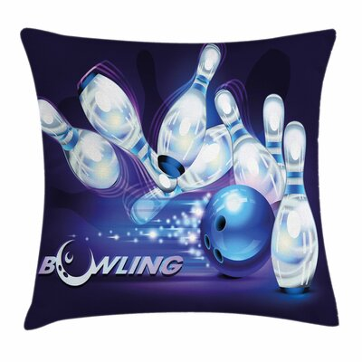 Bowling Party Fantasy Ball Moon Square Pillow Cover Size: 20 x 20