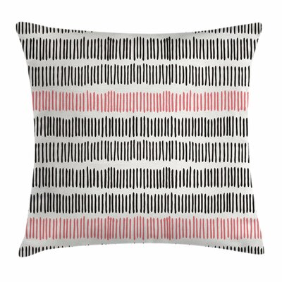 Abstract Lines Hipster Square Pillow Cover Size: 16 x 16