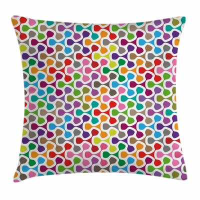Trippy ColoFigures Square Pillow Cover Size: 18 x 18