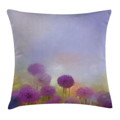 Onion Flowers Square Pillow Cover Size: 18 x 18
