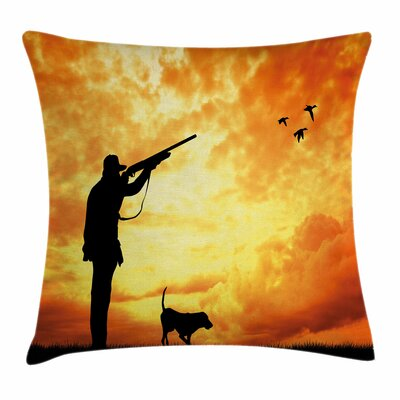 Huntsman Sunset Square Pillow Cover Size: 18 x 18