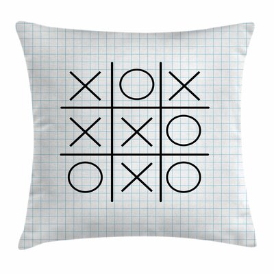 Xo Decor Tic Tac Toe Squares Square Pillow Cover Size: 24 x 24